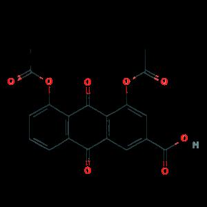1,8-Diacetoxy-3-carboxyanthraquinone ;Diacerein 13739-02-1