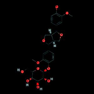 (+)-Pinoresinol-4-O-β-D-glucopyraside 69251-96-3